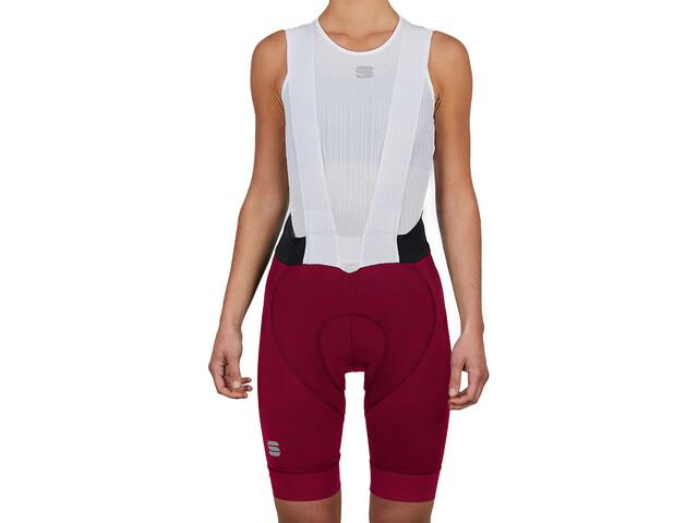 Sportful Bodyfit Pro Spodnie rowerowe na szelkach Kobiety, czerwony